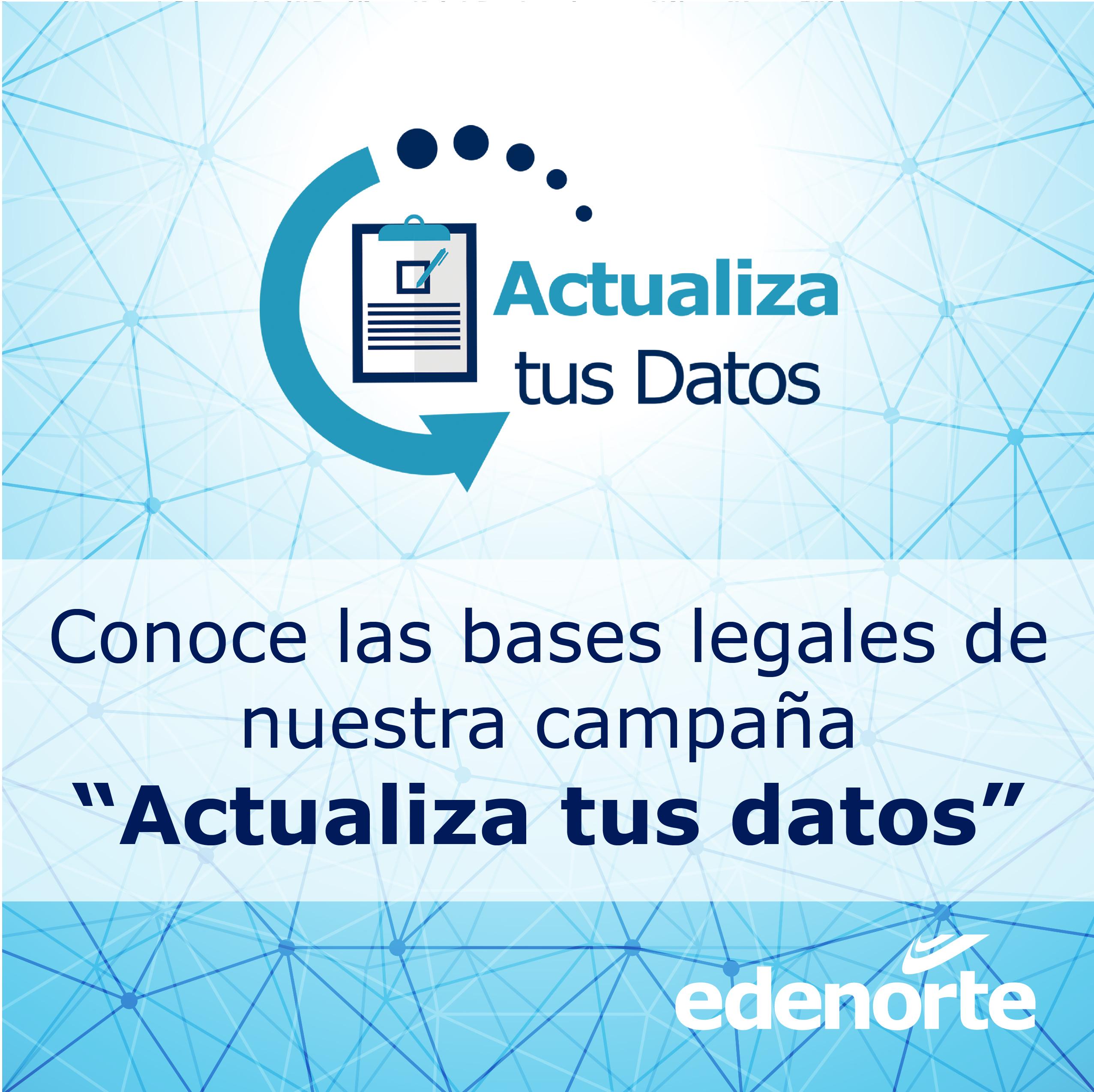 """Bases legales de la campaña de promoción """"Actualización de Datos"""""""