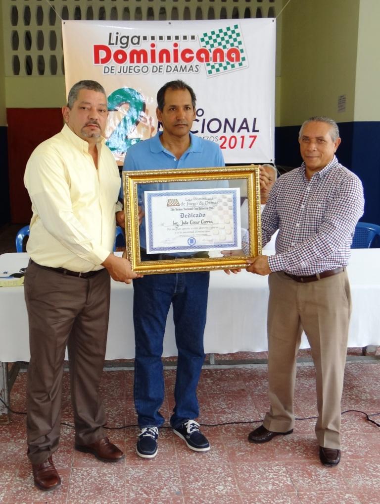 Dedican al ingeniero Correa torneo nacional juego de damas