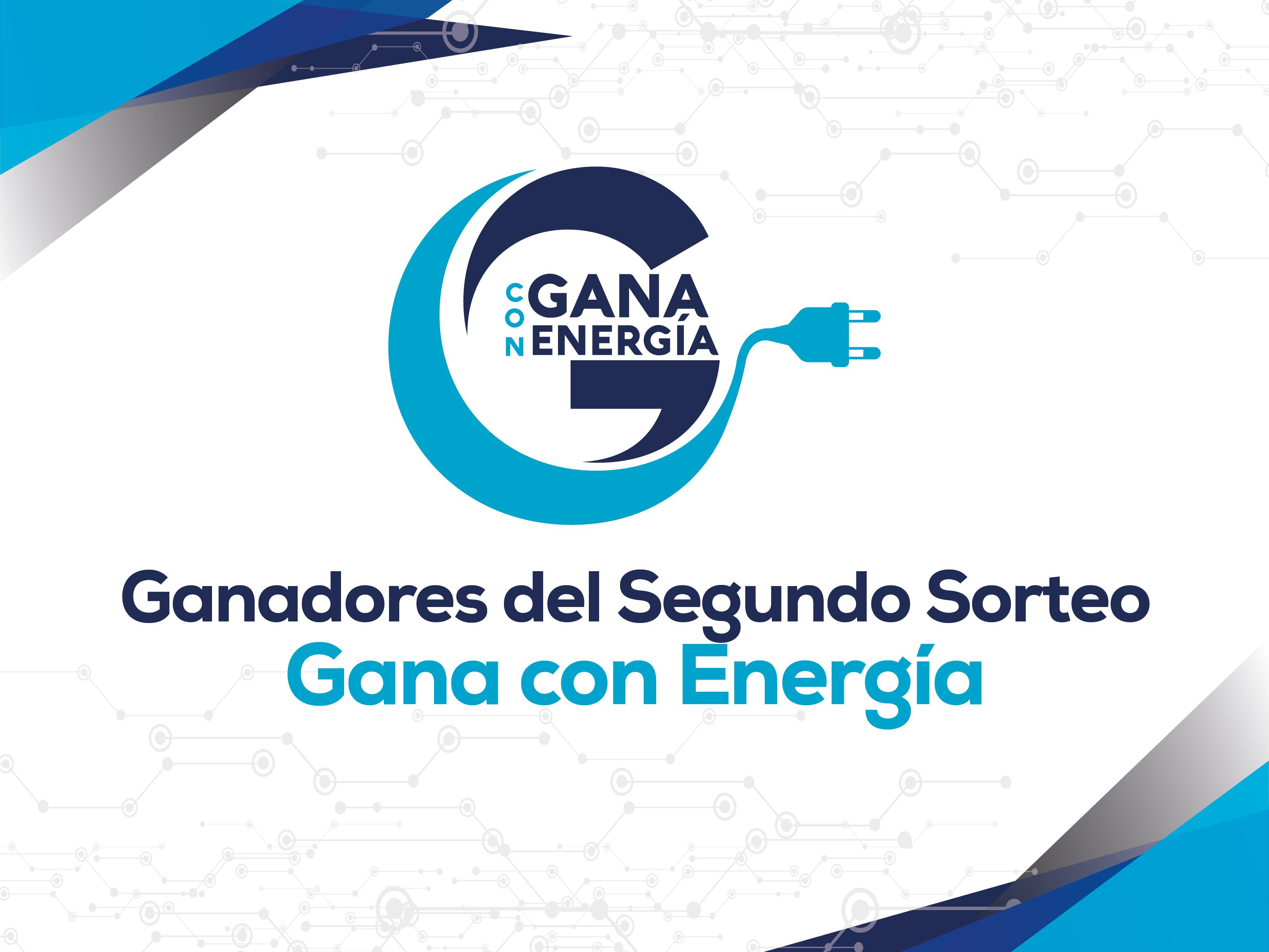 """Ganadores del 2do. sorteo """"Gana Con Energía"""" 2018."""