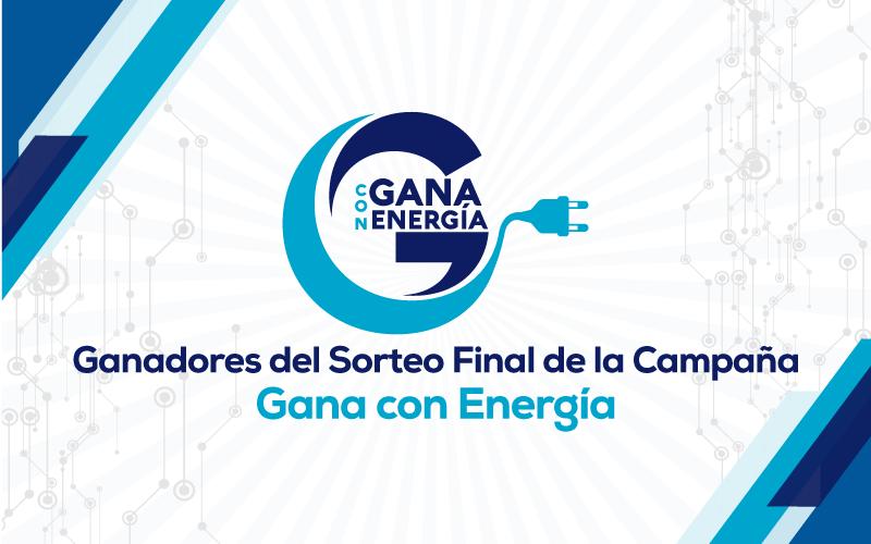 """Ganadores del Sorteo Final de """"GANA CON ENERGÍA"""", 2018"""