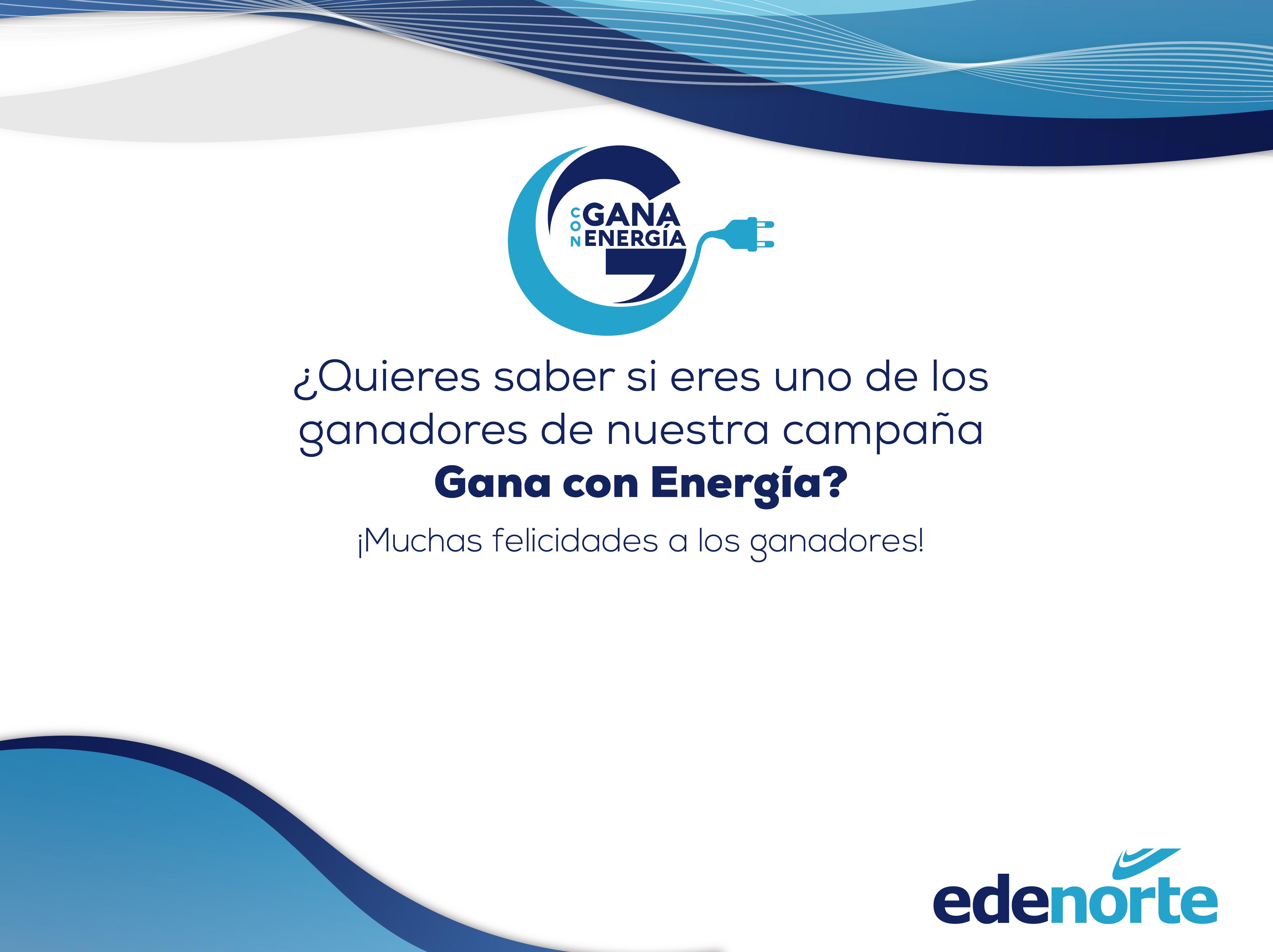 Ganadores del «Sorteo Gana Con Energía» 2019