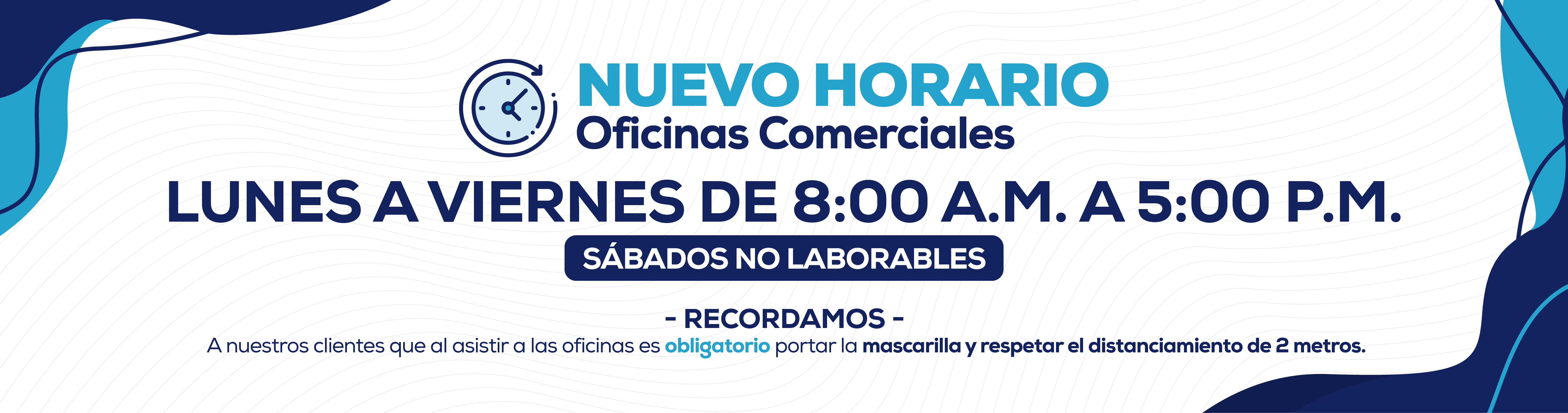 Nuevo Horario, 18 de Mayo - OficinasComerciales_Slide Web