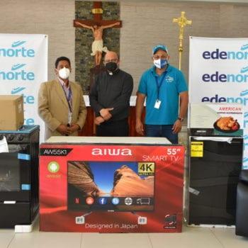 EDENORTE dona electrodomésticos a Iglesia católica de Esperanza